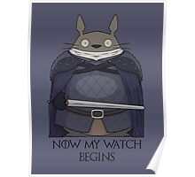 Totoro Night's Watch Poster