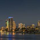 Surfers Paradise, Gold Coast at night by Ann Pinnock
