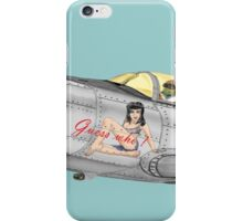 Fighter Nose Art - Guess who ! iPhone Case/Skin