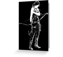 Lara Croft Greeting Card