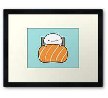 sleepy sushi bed Framed Print