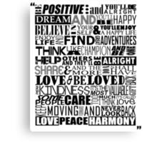 Random Funky Words Canvas Print