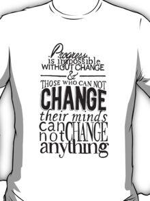 """""""Progress"""" Typographic Quote T-Shirt"""