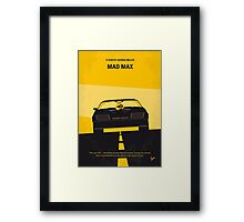No051 My Mad Max minimal movie poster Framed Print
