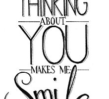 """Smile"" Typographic Quote by Lauren Riley"