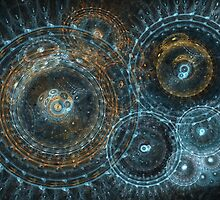 Abstract circle fractal by MartinCapek