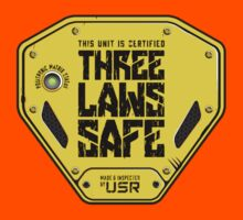 This Unit is THREE LAWS SAFE (Three Laws of Robotics) Kids Clothes