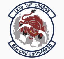 92nd Civil Engineer Squadron - Lead The Charge by VeteranGraphics