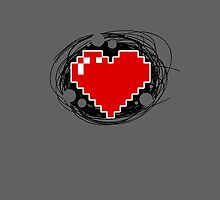 8-Bit Gaming Heart by PixieWillow