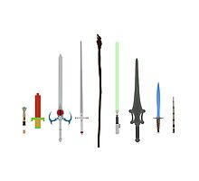 Iconic Cult Weapons - Minimalist Style by Posteritty