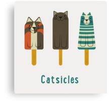Catsicles Canvas Print