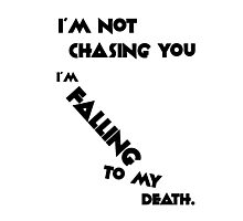 Falling to My Death Photographic Print