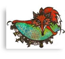 Fox Flips Canvas Print