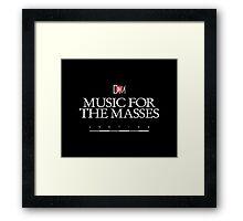 Depeche Mode : Music For The Masses Logo 3 White Framed Print