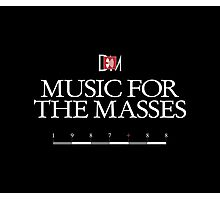 Depeche Mode : Music For The Masses Logo 3 White Photographic Print