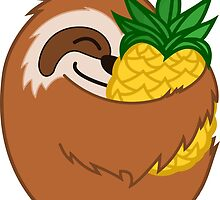 Pineapple Sloth by FaceFlip