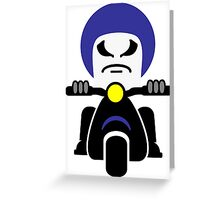 Bad Dude on a Scooter Greeting Card