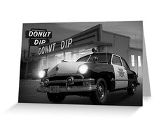 Cops Shoot Unarmed Donut Greeting Card