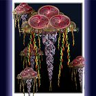 ©DA FS Jellyfish Fractal Duvet Cover c by OmarHernandez