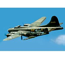 P-63A Kingcobra with B-17G Fortress II Photographic Print