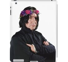 snape with flower crown iPad Case/Skin