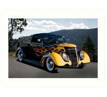 1937 Ford 'Fifties Style' Pickup  Art Print