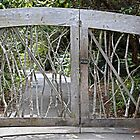 A Unique Garden Gate by Martha Sherman
