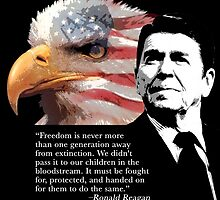 Ronald Reagan - Freedom by EJTees