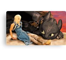 How to Train Your Targaryen Dragon Canvas Print