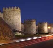 Walls of Avila tonight by PhotoBilbo
