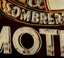Vintage El Sombrero Motel Sign, Salinas, CA. Sticker