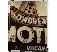Vintage El Sombrero Motel Sign, Salinas, CA. iPad Case/Skin