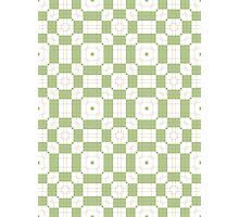 Mint Green & White Geometric Abstract Design Photographic Print