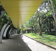 Arches & shady walkways, South Bank, Brisbane City. Qld. Aust. by Rita Blom