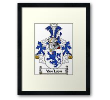 Van Loon Coat of Arms (Dutch) Framed Print
