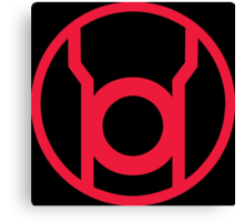 Red Lantern Corps Symbol Canvas Print