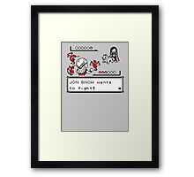 Throne Battle Framed Print
