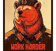 Soviet Bear - Work Harder Comrade by SwankyOctopus