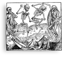 Medieval Dance of Death Canvas Print