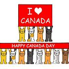 I love Canada Happy Canada Day from the cats. by KateTaylor