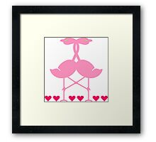 The Flamingo Lovers Framed Print