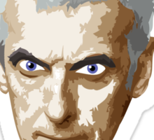 Doctor Who 12 Peter Capaldi - Attack Eyebrows Sticker