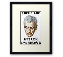 Doctor Who 12 Peter Capaldi - Attack Eyebrows Framed Print