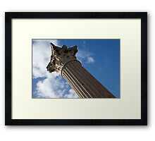 The Grandeur of Pompeii - a Corinthian Capital Column in the Sky Framed Print