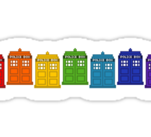 Police Box Rainbow Sticker