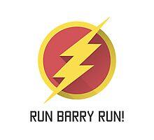 The Flash Run Barry Allen Photographic Print