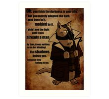 Bane's Cat Rises! Art Print
