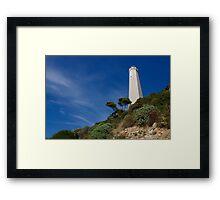 Lighthouse at Saint-Jean-Cap-Ferrat, France, French Riviera Framed Print
