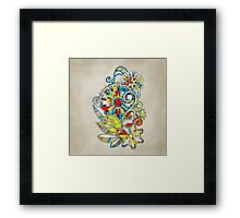 Abstract vector floral and ornamental item background Framed Print