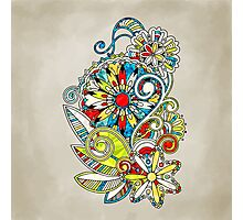 Abstract vector floral and ornamental item background Photographic Print